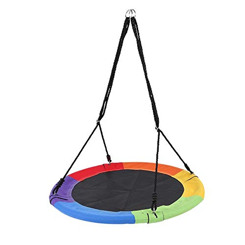 Wakects Swing Chair Cloth Seat, Lightweight Outdoor Garden Hanging Chair Round Tree Swing with Large Bearing Capacity Up to 660 lbs, Perfect for 3 4 5 6 7 8 9 Years Old Boys Girls Kids