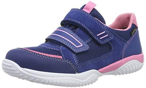Superfit Mädchen Storm Gore-Tex Sneaker, Blau (Blau/Rosa 81), 32 EU