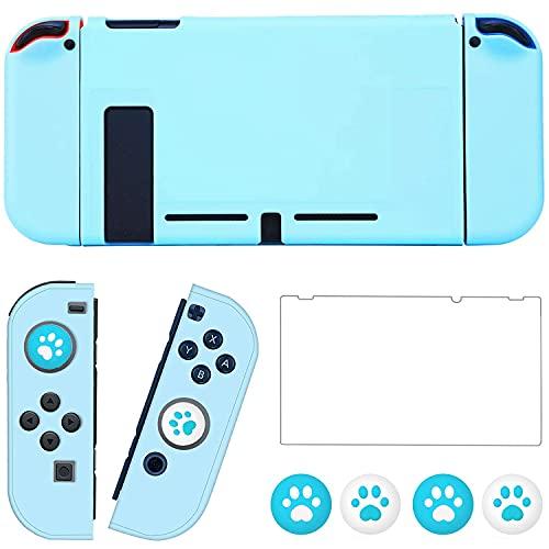 OLDZHU Funda Protectora Compatible con Nintendo Switch,Funda Azul Delgada y acoplable para...