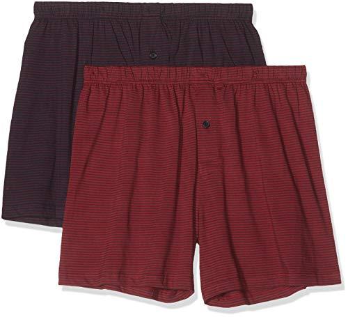 Living Crafts Boxer-Shorts, 2er-Pack 8, Dark Navy/Ruby