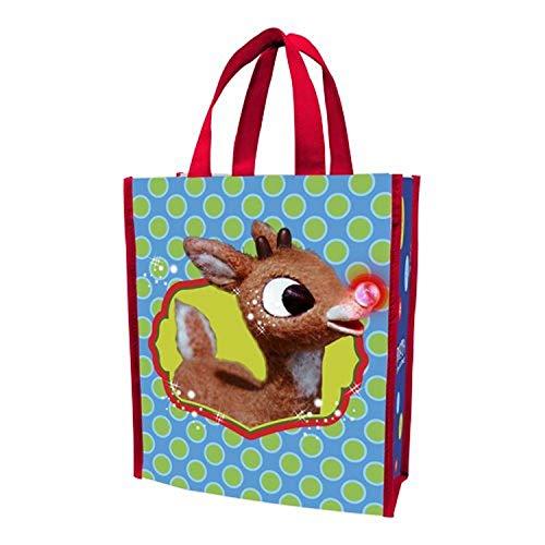 vándor klein recyceltem Shopper Tote, Rudolph Holly Jolly Christmas, 20,3 cm