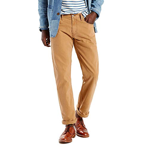 Levi's Men's 514 Straight Fit Soft Washed Twill Pant, Caraway, 33Wx30L