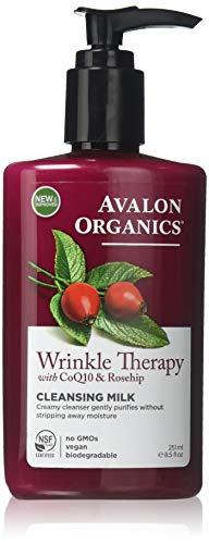 Avalon Active Organics Crème nettoyante pour le visage avec CoQ10 - Hydratation intensive et régénération anti-âge pendant le sommeil - 250 ml