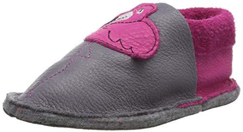 Pololo Unisex-Kinder KIGA Flamingo821 Niedrige Hausschuhe, Grau (Grau/Pink 821), 26/27 EU