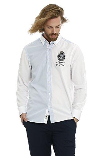 GALVANNI Kobuk Camisa Casual, Blanco (White Multi 1022), Small (Tamaño del Fabricante:S) para Hombre