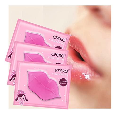 EFERO 5 piezas de colágeno máscara de labios parches para parches de labios hidratantes, exfoliantes y plumper Pump Essentials Labios Cuidado 5/6/8/10 paquetes