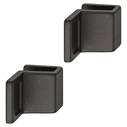 Gedotec Glastürgriff Schrank Möbelgriffe für Glastüren - Ziehgriff zum Klemmen | Glasdicke 4-6 mm | Zinkdruckguss schwarz | Griff für Schranktüren & Glastüren | 2 Stück - Design Spiegel-Türgriff