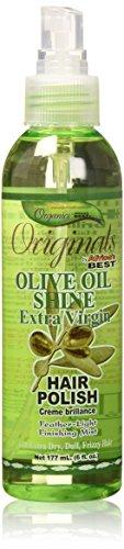 Africa\'s BEST Organics OLIVE OIL SHINE HAIR POLISH 6oz SPRAY