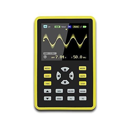 RFElettronica, Osciloscopio portátil ADS5012H monitor TFT digital de 2,4 pulgadas de velocidad de muestreo válvula de muestreo 500 MS/S ancho de banda analógica 100 MHz, soporte con batería 3000 mAh