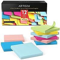 12-Pack Arteza Sticky Notes, 100 Sheets