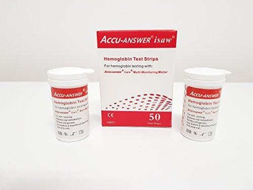 Accu-Answer isaw Blood Hemoglobin Test Strips(2X25pcs)