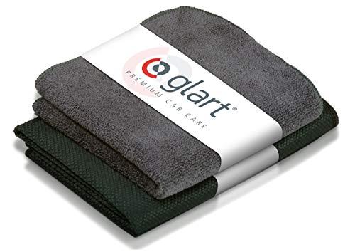 Set de 2 paños de microfibra glart 4432K para la limpieza del parabrisas, escamas especiales de 60 x 40 cm y un forro seco