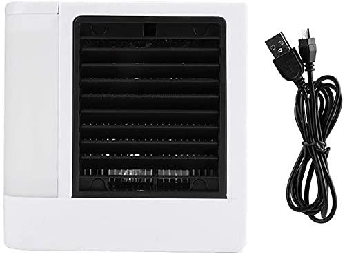 HMHMVM Refrigerador de aire de hielo ner Super aire enfriador portátil aire ner con LED USB Mini ventilador de escritorio 5 posiciones ajustable fresco