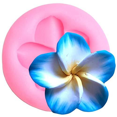 CSCZL Molde de Silicona de Flor de Plumeria DIY, decoración para Cupcakes de Boda, moldes para Fondant, Herramientas para Decorar Pasteles, Molde para Chocolate y Caramelo
