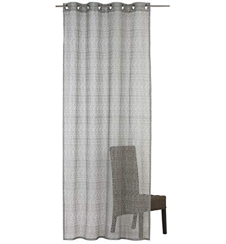 SCHMIDTGARD STOFFE - Tenda con occhielli, in tessuto non tessuto, semitrasparente, ca. 140 x 245 cm, colore: Grigio