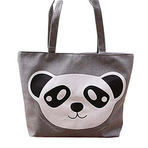 Wicemoon Sac Cabas Femmes,Femmes Sac à main Patron de tête de panda,Sacs de plage Cabas décontractés Cartables,Travail ou vie scolaire