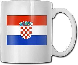Xarchy Tasse à café Drapeau de la Croatie Tasses Tasses à café en céramique personnalisées Impression recto-verso 11oz