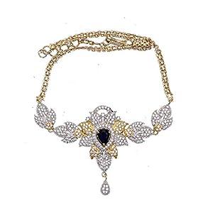 JewelryGift Kamarband Gold Silver Plated CZ Stones Studded Saree, Lehenga or Gowns Tagdi, Kamarpatta, Belly Chain, Kamar Chain, Waist Belt Designer Fashion Jewellery Raksha Bandhan Gift for Sister