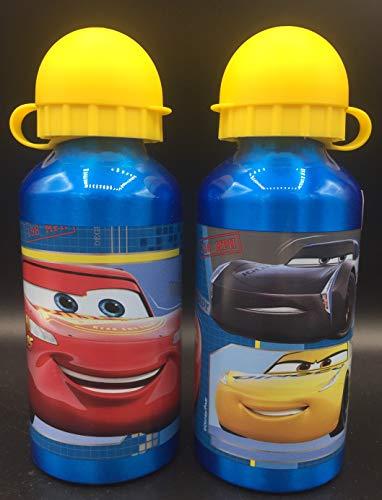 ML Botella de Agua de Aluminio, cantimplora térmica a Prueba de Fugas sin BPA para Levar a la Escuela y Deportes el Termo 500ml para niños y niñas (Verde)