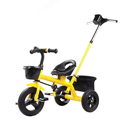 GYF Cumpleaños De Los Niños del Cochecito De Bebé De Bicicletas Bici De Múltiples Funciones De Los Niños Niño Y Niña con Juguete Triciclo (Color : Yellow)