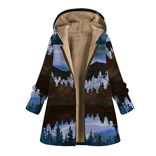 Abrigo De Invierno Mujer Libre Abrigos para Mujer Rebajas Talla Grande Abrigo con Capucha De Manga Larga Vintage Cremallera Señoras Abrigos con Bolsillos Gruesos De Lana riou