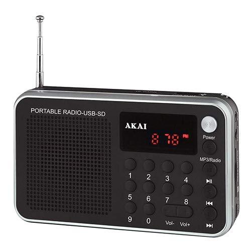 AKAI 9204500 | DR002A-521 Black Rain Digital FM PLL