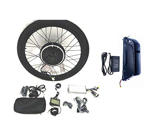 Theebikemotor 36V500W Hub Motor 11AH Li-on Battery Powered Electric Bike Conversion Kit + LCD + Tire (27.5' Rear Wheel + 7 Speed Gear)