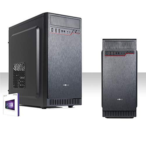 PC DESKTOP INTEL QUAD CORE LICENZA WINDOWS 10 PRO 64 BIT ORIGINALE/HD 500GB SATA III /RAM 4GB DDR3/HDMI-DVI-VGA/USB 3.0,2.0,AUDIO,VIDEO,LAN/RW-DVD/PC FISSO COMPLETO, UFFICIO,CASA,SOCIAL NETWORK