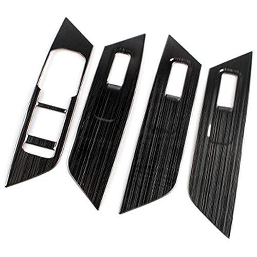 TPHJRM Car Glass Lift Switch Panel Panel Pailletten Innenarmlehne Dekorativer Rahmen , für Skoda Kodiaq 2016 2017 2018 Autozubehör