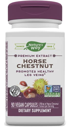 Nature's Way Standardized Horse Chestnut, Premium Extract, 250 mg per serving, 90 Vegan Capsules
