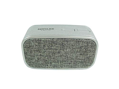 SONILEX SL-BS211FM Bluetooth Speaker with AUX, Memory Card, FM Radio, Bluetooth (Color May Very) (Silver)
