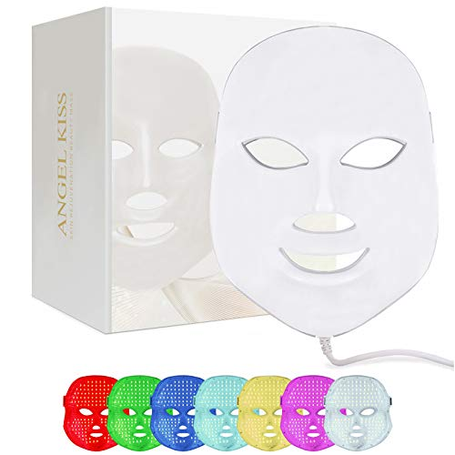 Face Led Mask -Angel Kiss 7 Color Blue Red Light Therapy Photon...