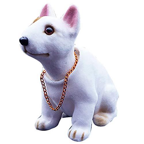 Toruiwa - Figura que mueve la cabeza de juguete con forma de perro para decoración de coche, 6,5 x 15 x 8 cm (estilo 1)