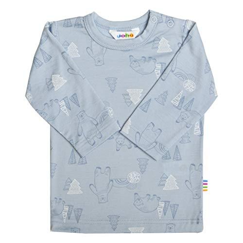 Joha T-shirt à manches longues en laine mérinos pour garçon - Bleu - 2 mois
