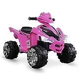 Kidzone 12V Kids Battery Powered Electric 4-Wheeler Quad Toddler Ride-On ATV w/...