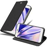 Cadorabo Hülle für Xiaomi Mi A1 / Mi 5X in Nacht SCHWARZ - Handyhülle mit Magnetverschluss, Standfunktion & Kartenfach - Hülle Cover Schutzhülle Etui Tasche Book Klapp Style