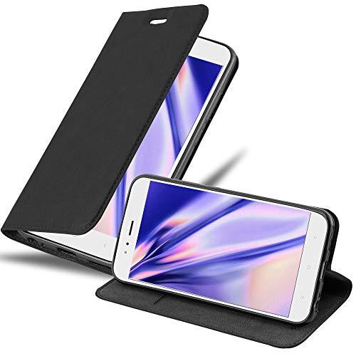 Cadorabo Funda Libro para Xiaomi Mi A1 / Mi 5X en Negro Antracita - Cubierta Proteccíon con Cierre Magnético, Tarjetero y Función de Suporte - Etui Case Cover Carcasa