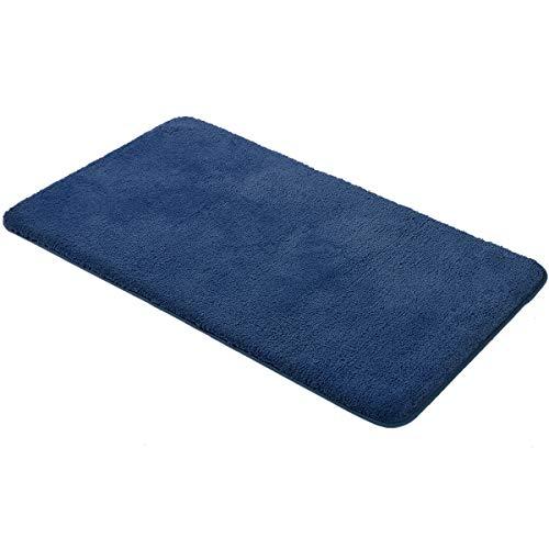 MAYSHINE 70x120 cm Azul Oscuro Alfombrilla de Baño Antideslizante Alfombra...