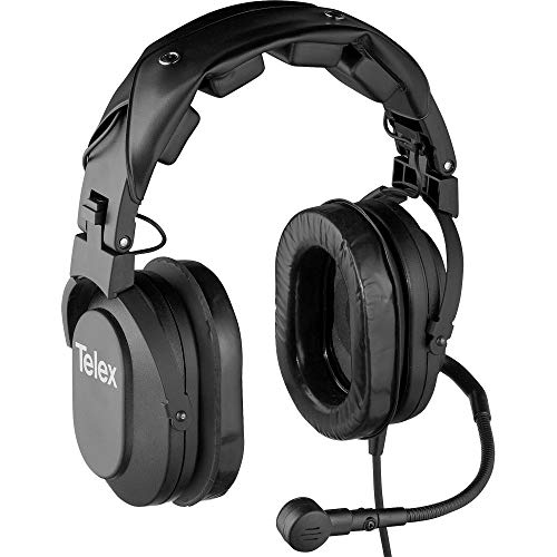 Telex HR-2R Dual Sided Cushion Noise-Cancelling Headset mit RTS-Stecker & A4M-Stecker, 50 Hz - 15 kHz Headset-Frequenz, 150 Ohm Headset & Mikrofon-Impedanz