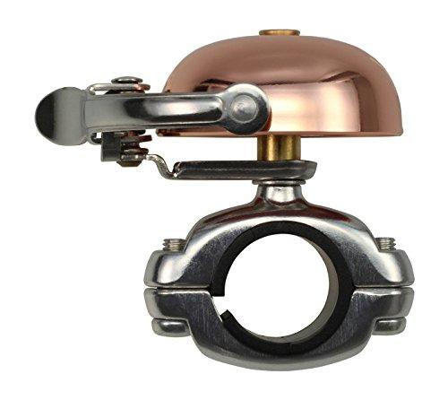 CRANE Bell Co. Mini Suzu W Die Cut Mount Campanello Bicicletta, Rame, 45 mm