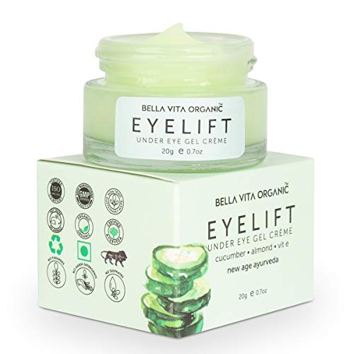 Bella Vita Organic Eyelift Eye Cream Gel For Dark Circles, Puffy Eyes, Wrinkles & Removal Of Fine Lines For Women & Men, 20 g