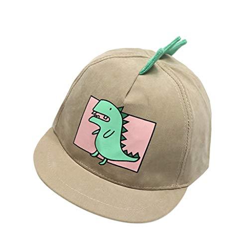 Zylione (1 – 4Y Gorra de béisbol de la caricatura de dinosaurios de la caricatura caqui Talla única