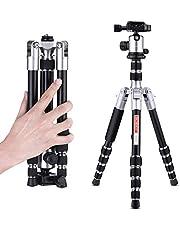 Beschoi三脚 5段 デジタルカメラ 一眼レフ Canon Nikon Petax Sonyなど用 三脚一脚+自由雲台 可変式 5段ナット式 小型軽量 コンパクト トラベル用 アルミ合金製 折り畳み可能 (M255-5段ナット式)