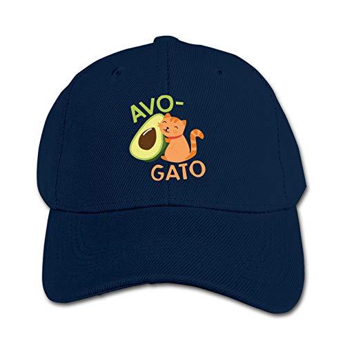 Avocado Cat Unisex Sports Cap Teen Hut Sunproof Kids Cap Hip-Hop Cap Verstellbare Baseball Cap Sun Hat für Kinder