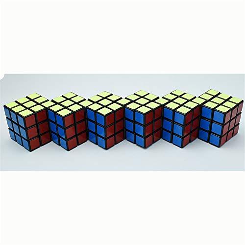 Ysss [Cubo de Rubik para el Cuerpo de Seis Piezas] Tercer Orden 6 en 1 Bundle Bound Limit Magic Cube 6 Piece Alien Shaped Puzzle Toy,Negro