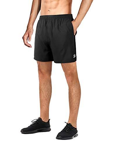 Roadbox Kurze Hosen Herren Sport Shorts Ultraleichte und Atmungsaktive Laufhose Futter,Ergonomisches Design mit 4 Tasche für Laufen,Fitness,Jogging,Training,Beiläufig