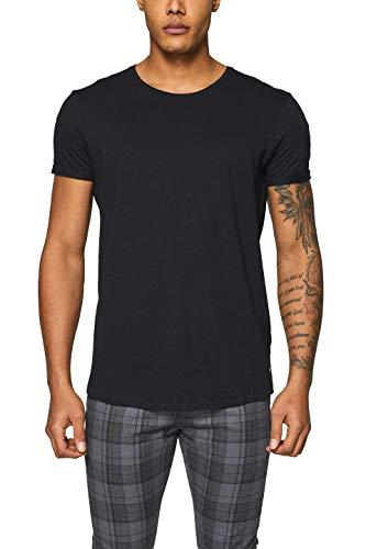 edc by ESPRIT Herren 990CC2K302 Standard T-Shirt, Schwarz (Black 001), Medium (Herstellergröße: M)