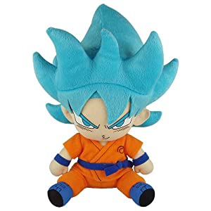 Great Eastern Entertainment Dragon Ball Super - SSGSS Goku Sitting Pose Plush - 417SOt5DN9L - Great Eastern Entertainment Dragon Ball Super – SSGSS Goku Sitting Pose Plush Multi, 13″