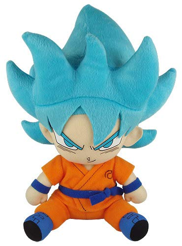 Great Eastern Entertainment Dragon Ball Super - SSGSS Goku Sitting Pose Plush
