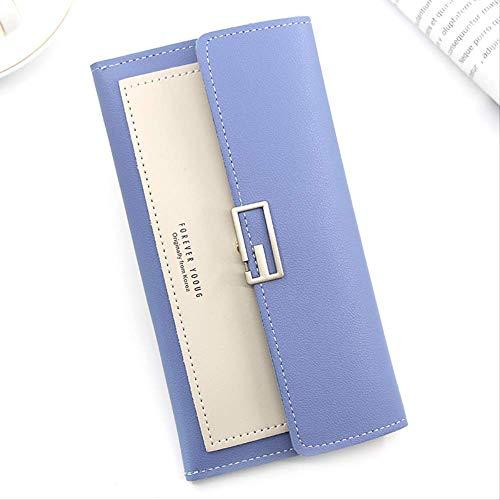 yishouhengcheng Damenbrieftasche Koreanische Damenbrieftasche Damen-Clutch-Tasche Lange Dreifache Multifunktions-brieftaschenschnalle Multi-Card-wickeltasche